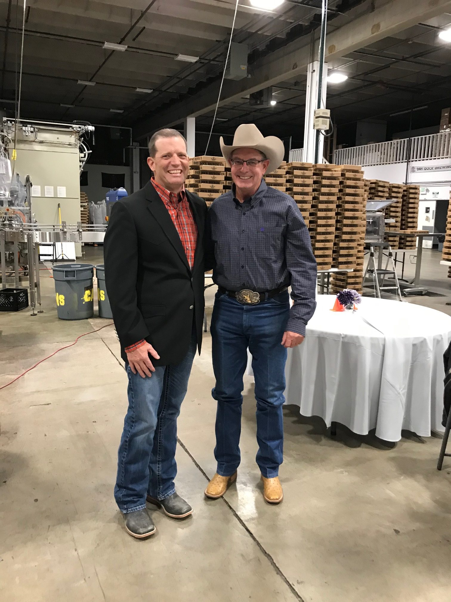 2019 Lifetime Achievement Award Recipient Steve Schwartzenberger with RMRHA President Travis Chapman